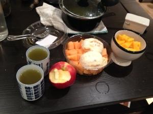 note the toilet bowl full of mangos